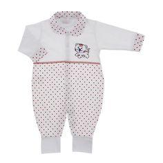 Macacão para Bebê de Malha Poá Colorido - 9030 - Mod.1 | Cegonha Encantada