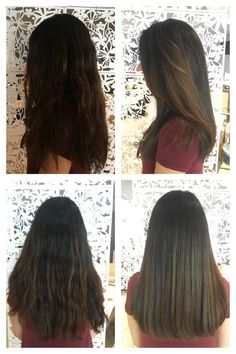 Below the shoulder - One length haircut no layers