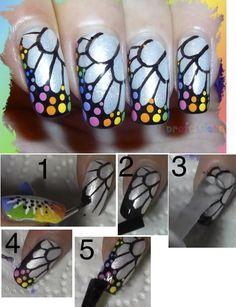 ongles papillon