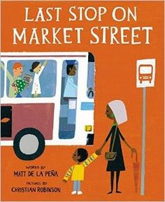 Last Stop on Market Street is a terrific book for sharing with kids of all colors and backgrounds, because of how deeply it makes you think. de la Peña makes his point without being preachy or didactic - that beauty is everywhere, that we can find it particularly in helping our fellow man. Review from @sproutsbkshelf