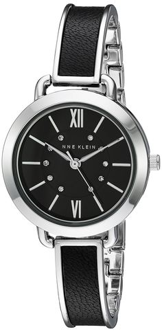 Anne Klein Women's Quartz Metal and Alloy Dress Watch, Color:Black (Model: AK/2437BKSV) >>> To view further for this watch, visit the image link.