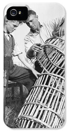 Making Lobster Pots Connemara 1959 iPhone Case by Irish Photo Archive Connemara, Iphone 5c Cases, Caricatures, Photo Archive, Pots, Irish, Celtic, Ireland, Survival