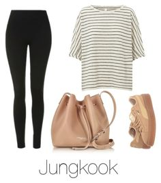 """""""Coffee with Jungkook"""" by infires-jhope ❤ liked on Polyvore featuring Topshop, Puma and Lancaster"""