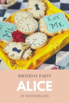 Previously we shared the planning of our daughter's Alice in Wonderland themed birthday party.   One of my favorite things to do for my kids's birthday parties is to create a fun cake and a beautiful dessert table. Alice In Wonderland Birthday, Beautiful Desserts, Dessert Table, Birthday Party Themes, Amazing Cakes, Tea Time, Favorite Things, Daughter, Posts