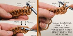 Tunisian Crochet:Simple Stitch - a tutorial on the Webs blog