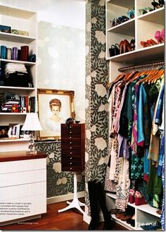The Dressing Room of Designer Laura Vinroot Poole as featured in Domino