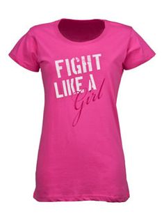 Fight Like A Girl Tee. $22.00  October is breast cancer awareness month!