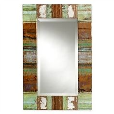 Vintage Patchwork Copper Mirror from Bambeco.Com