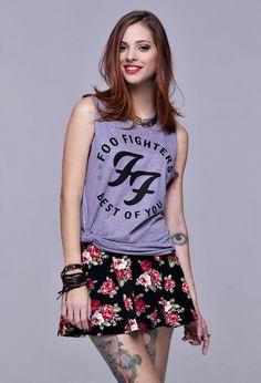 FOO FIGHTERS (Regata Boyfriend) - Rocket Camisetas - R$ 52,90