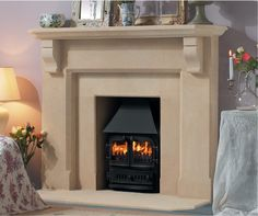 Stone Fireplaces can be made to measure in any dimensions. They suit any kind of fuel and they last a lifetime! Focus Fireplaces, Building Stone, Fire Surround, Stove Fireplace, Log Burner, Gas And Electric, Your Perfect, Bedroom, Simple