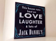 Customizable Jack Daniels Sign, Stained and Hand Painted, moving gift, wedding gift, birthday, home decor, house warming