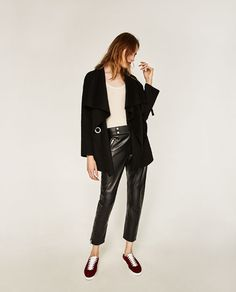 Image 1 of CROSSOVER BELTED COAT from Zara
