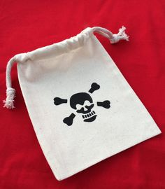 Pirate Favor Bags: Drawstring Pirate Party by MadHatterPartyBox