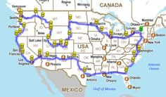 how to drive across the US, hitting all the major landmarks. Vacation Destinations, Dream Vacations, Vacation Trips, Vacation Spots, Vacation Travel, Vacation Places, Vacation Ideas, Places To Travel, Places To See