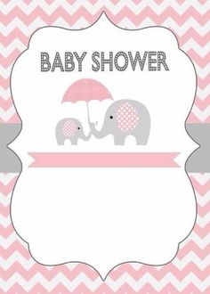 Adorable elephant invitation for a baby shower! Baby Shower Niño, Shower Bebe, Baby Shower Games, Baby Shower Parties, Baby Boy Shower, Tarjetas Baby Shower Niña, Invitaciones Baby Shower Niña, Imprimibles Baby Shower, Elephant Party