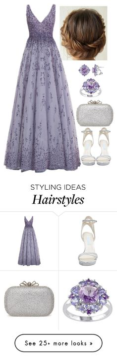 """Untitled #3103"" by natalyasidunova on Polyvore featuring Monique Lhuillier and Betsey Johnson"