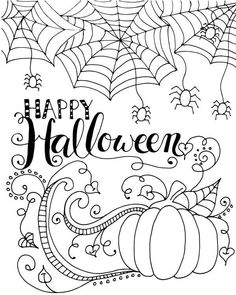 Friendly not scary halloween coloring page for kids Welcome to