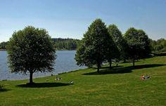 Noch gibt es viel Platz am Losheimer Stausee im Saarland, Germany. Mit besserem Wetter wird sich das ändern. :-)