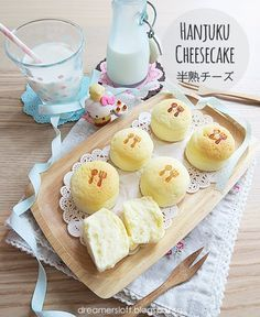 I first bought the Hanjuku Cheesecake from Lavender Bakery in JB (Malaysia) a few years back; the cake is bite-size with a mild cheesy and c. Japanese Cotton Cheesecake, Japanese Cheesecake Recipes, Japanese Cake, Japanese Pastries, Japanese Sweets, Japanese Food, Mini Cakes, Roll Cakes, Sweets