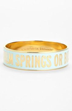 Palm springs or bust. Love personalized jewelry!