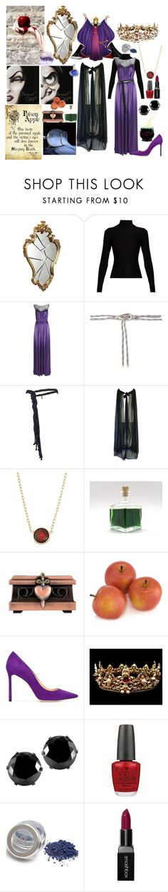 """""""The Evil Queen"""" by fandom-girl365790 ❤ liked on Polyvore featuring Acne Studios, Lanvin, Maje, Yves Saint Laurent, Adolfo, Disney, GALA, Jimmy Choo, West Coast Jewelry and OPI"""