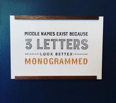 Yallsome Monogrammed Print