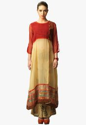 Admyrin Beige Printed Kurti With Palazzo Online Shopping Store