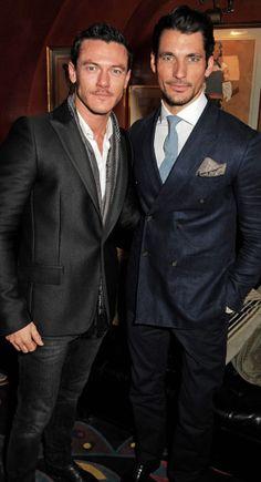 Luke Evans and David Gandy Together. Holy smokes!!!