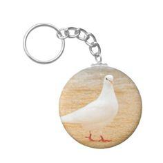 Cute White Pigeon Bird Keychain - accessories accessory gift idea stylish unique custom