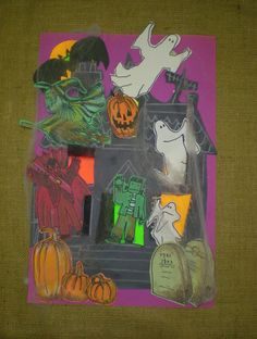 haunted house art projects kids - Google Search