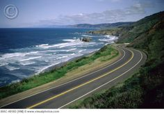 Highway 1 runs along the coast of Ca. It's one of the most traveled highways in the U.S. because of it's spectacular beauty. ♥