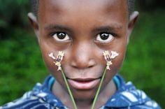 Boy with Flowers-lesotho- david lazar