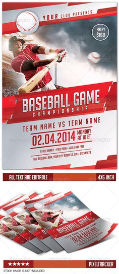 Download the best Baseball Flyer flyer templates for Photoshop!