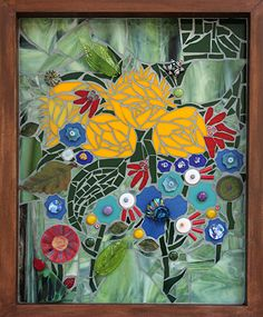 Summer's End by Patty Franklin Mosaic ~ 16 x 13