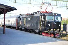 Lulea, Sweden - train we took from Lulea to Stockholm