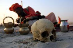 Human skull @ Kumbh Mela