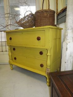 Dresser in CHALK PAINT® decorative paint by Annie Sloan in English Yellow