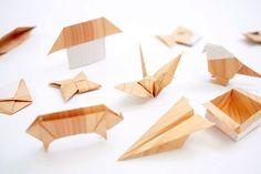 wood-like papper origami