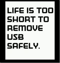 """""""Safely remove hardware."""""""