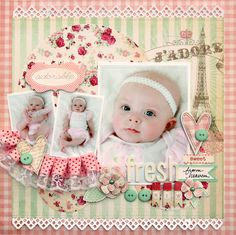 Love this layout ⊱✿-✿⊰ Join 700 people and follow the Scrapbook Pages board for Scrapping inspiration ⊱✿-✿⊰