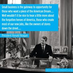 Small business is the gateway to the American Dream