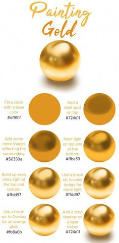 An easy step by step tutorial about how to paint gold in Procreate, Photoshop or any other digital painting program. Check the article on my website for the full step by step digital art tutorial. art tips How to Paint Gold - Digital Art Tutorial Digital Art Tutorial, Digital Painting Tutorials, Art Tutorials, Digital Paintings, Drawing Tutorials, Design Tutorials, Ipad Art, Digital Art Illustration, Manga Illustration