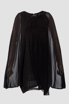 Long sleeves blouse featuring pleated details to the front.$38