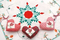 MessyJesse: Patchwork Christmas Decorations (Source claims pattern is in a book but does not mention which book.) Use as inspiration.