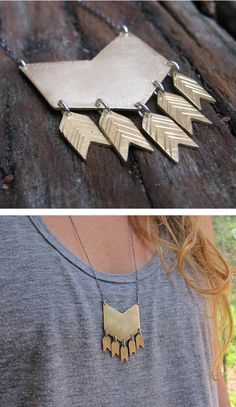 Chevron arrow necklace