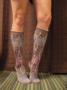 Ravelry: Ancient Path Socks pattern by Jennifer Pattison - free pattern Free Baby Patterns, Knitting Patterns Free, Knit Patterns, Free Knitting, Free Pattern, Crochet Socks, Knitting Socks, Free Crochet, Knit Crochet