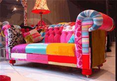 colourful sofa again - patchwork