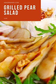 Grilled Pear Salad Recipe. Summer recipes are a quick and easy way to get a healthy meal in for yourself or your family. Try this sweet and summer inspired salad recipe today!
