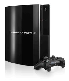 PlayStation 3, by Sony  http://gameconsoles.net.au/wp-content/uploads/2009/02/playstation-3-60gb-console.jpg