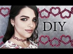 Welcome to my channel this is the first of what I hope to be an ongoing channel of jewelry tutorials. This tutorial is for a pair of beaded fan earrings. Diy Choker, Beaded Choker Necklace, Heart Choker, Beaded Bracelet Patterns, Beaded Bracelets, Free Beading Tutorials, Fabric Necklace, Necklace Tutorial, Bead Jewellery